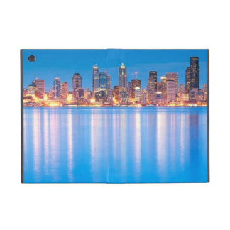 Blue hour view of downtown Seattle iPad Mini Cases