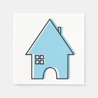 Blue House napkins Paper Napkins