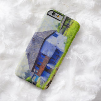 Blue house painting barely there iPhone 6 case