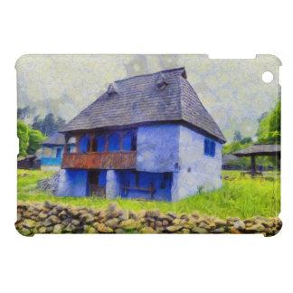 Blue house painting iPad mini cases