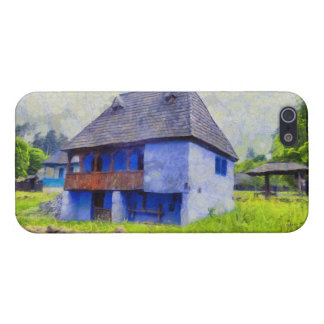 Blue house painting iPhone 5/5S cases