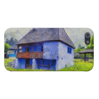 Blue house painting iPhone 5/5S covers