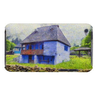 Blue house painting iPod touch Case-Mate case