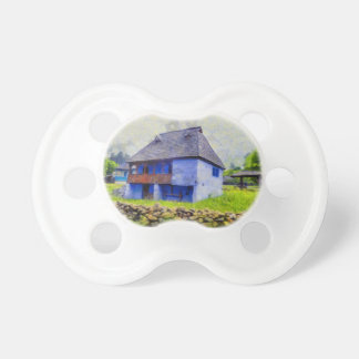 Blue house painting pacifier