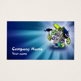Blue House Repairman Service Business Card