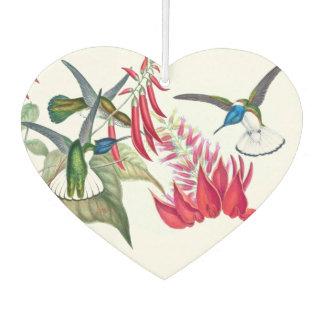 Blue Hummingbird Birds Red Flowers Air Freshener