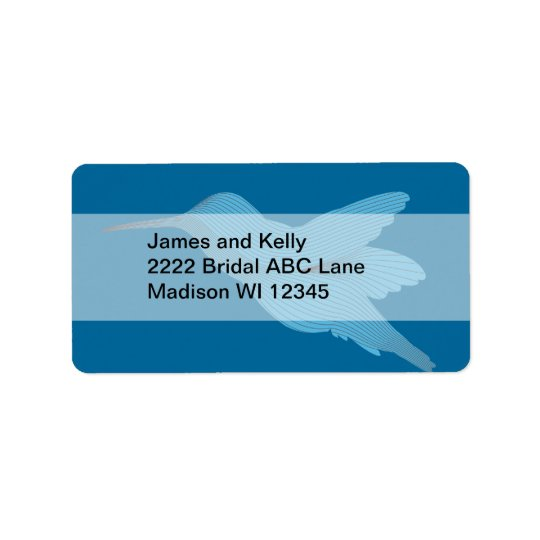Blue Hummingbird Label