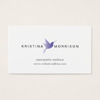 BLUE HUMMINGBIRD LOGO, Naturopathy, Healthcare Business Card