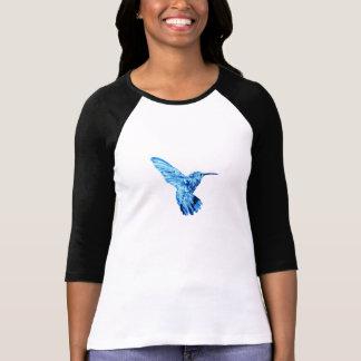 Blue hummingbird long-sleeve tee