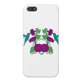 Blue Hummingbirds & Morning Glory Vine iPhone 5 Cover