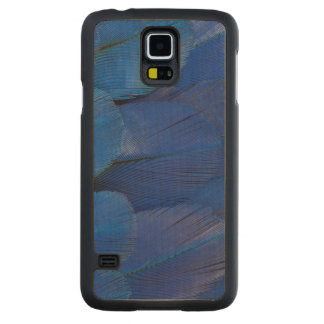 Blue Hyacinth Macaw Feather Design Carved Maple Galaxy S5 Case