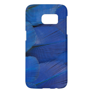 Blue Hyacinth Macaw Feather Design Samsung Galaxy S7 Case