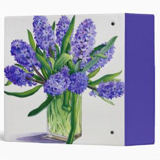 Blue Hyacinths 3 Ring Binder