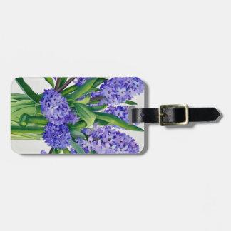 Blue Hyacinths Bag Tag