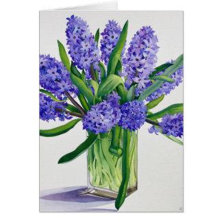 Blue Hyacinths Card