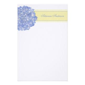 Blue Hydrangea Art Stationary Stationery