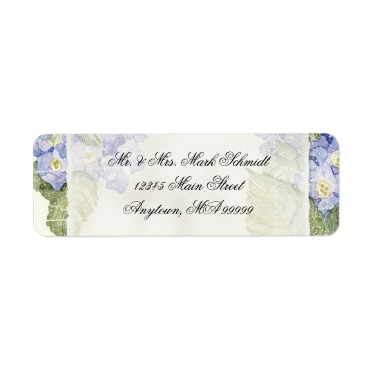 Blue Hydrangea Bracket Floral Formal Wedding