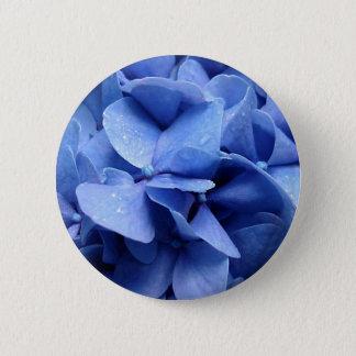 Blue Hydrangea button/badge 2 Inch Round Button