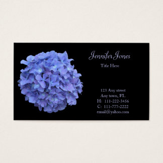 Blue Hydrangea Floral Business Card