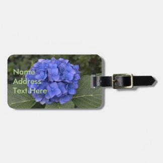 Blue Hydrangea Floral Luggage Tag