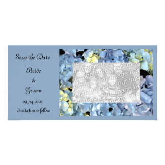 Blue Hydrangea Floral Wedding Save the Date Card