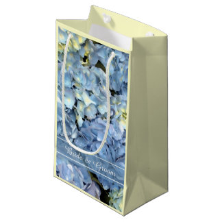 Blue Hydrangea Floral Wedding Small Gift Bag