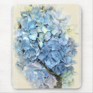 Blue Hydrangea Flower Mouse Pad
