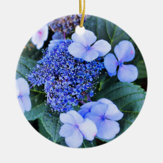 BLUE HYDRANGEA FLOWER ORNAMENT
