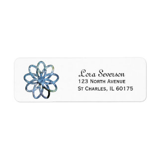Blue Hydrangea Flower Return Address Label