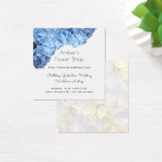 Blue Hydrangea Flower Shop Florist Business Cards