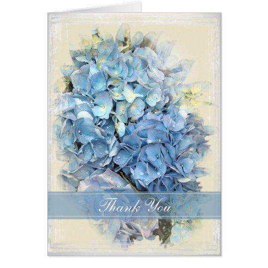 Blue Hydrangea Flower Thank You Card