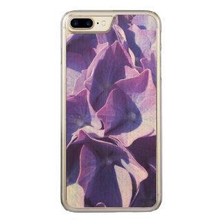 Blue Hydrangea Flowers Close Up Photo Carved iPhone 7 Plus Case