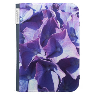 Blue Hydrangea Flowers Close Up Photo Kindle Keyboard Cases