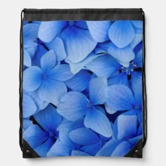 Blue Hydrangea Flowers Drawstring Bag
