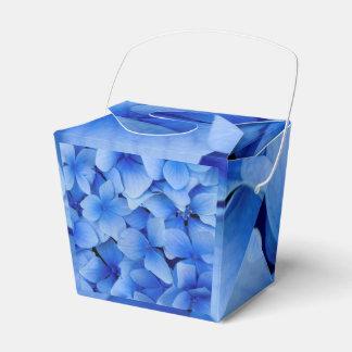 Blue Hydrangea Flowers Favor Box