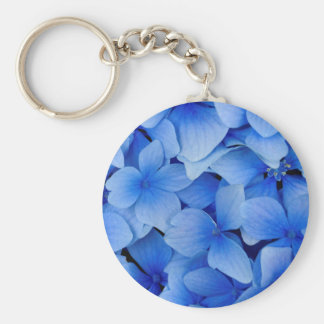 Blue Hydrangea Flowers Keychain