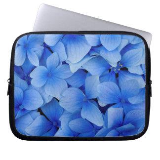 Blue Hydrangea Flowers Laptop Sleeve