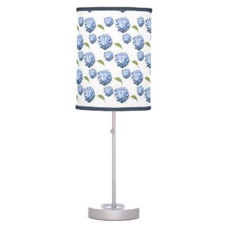 Blue Hydrangea Flowers Table Lamp