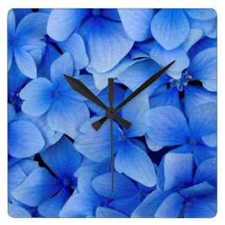 Blue Hydrangea Flowers Wallclocks