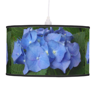 Blue Hydrangea Hanging Lamps