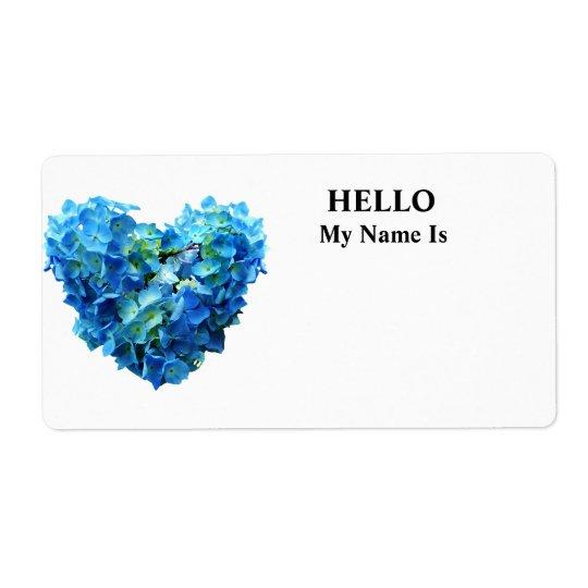 Blue Hydrangea Heart