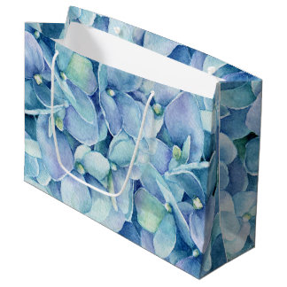 Blue Hydrangea Large Gift Bag