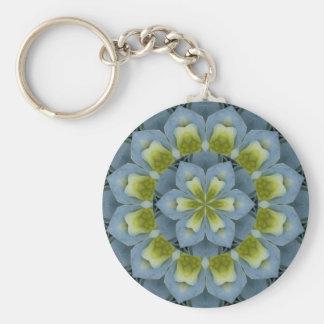 Blue Hydrangea Mandala Image 2 Keychain
