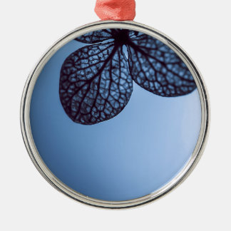 Blue Hydrangea Metal Ornament