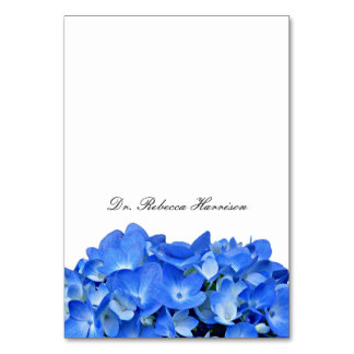Blue Hydrangea Name Template Place Cards