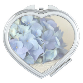Blue Hydrangea on Vintage Lace Photograph Makeup Mirror