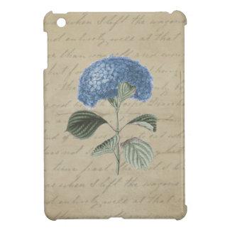Blue Hydrangea on Vintage Parchment iPad Mini Cover