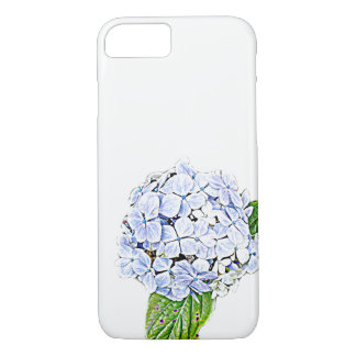 Blue Hydrangea Print iPhone 8/7 Case