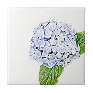 Blue Hydrangea Print Tile