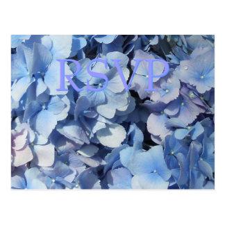 Blue Hydrangea RSVP Response Postcard